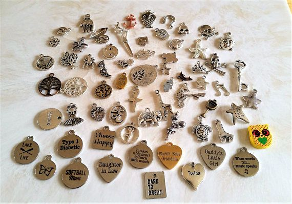 67 Mixed charms  jewelry making  jewelry supplies  craft