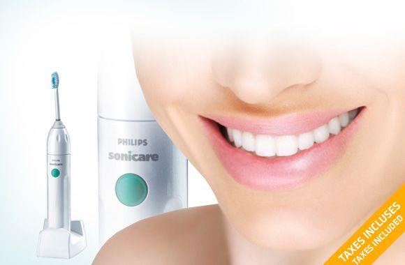 69$ pour une brosse à dent sonique rechargeable Philips Sonicare Essence (valeur de 103$) $69 for a Philips Sonicare Essence rechargeable sonic toothbrush (value of $103)