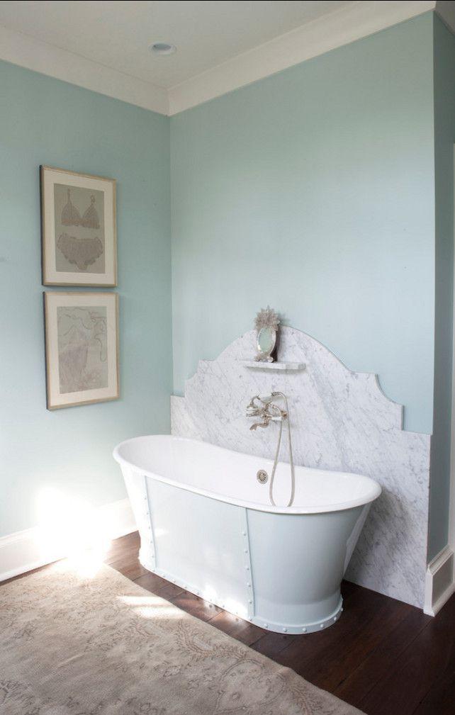 Benjamin Moore Palladian Blue Hc 144 In Eggshell Paintcolor Bedroom Nursery Shan Bath Beach Theme Pinterest Bathroom And