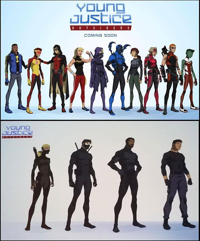WEBSTA @ supercomicbooklover - Reposted from @Unmasked_Superhero First look at the heroes of Young Justice: Outsiders.#youngjustice #nightwing #aqualad #superboy #artemis #staticshock #kidflash #robin #wondergirl #spoiler #netflix #bluebeetle #thirteen #arrowette #arsenal #beastboy #dccomics