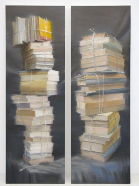 #1524 / 1525 Books, 2012 Olio su tela, oil on linen 120x40