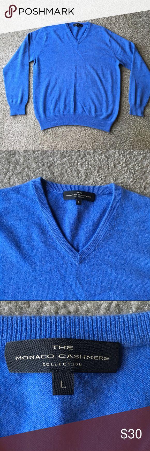 Men's Cashmere Sweater V neck Sz L Excellent condition The Monaco Cashmere Collection Sweaters V-Neck