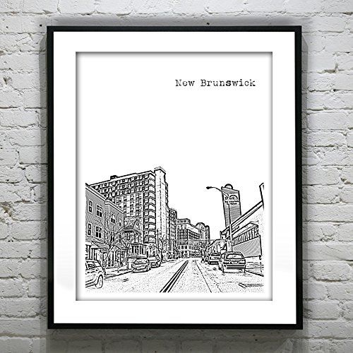 New Brunswick New Jersey Art Print Poster - New Brunswick, NJ - Version 1. New Brunswick New Jersey Art Print Poster - New Brunswick, NJ - Version 1 Handmade art of your favorite places! We travel, we photograph, we make art! These prints make great wedding gifts, wedding guest books, college graduation gifts, birthday and holiday gifts. ABOUT THE PRINT: Your print comes as an original Giclee print on high quality acid free Epson Matte photo paper using Ultracrome archival pigment inks…