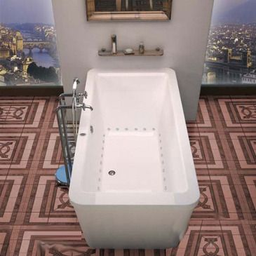 Atlantis Tubs 3267AA Aquarius 34 x 67 x 24 - Inch Freestanding Whirlpool Air Jetted Bathtub - VZ3267AA from BEYOND Stores