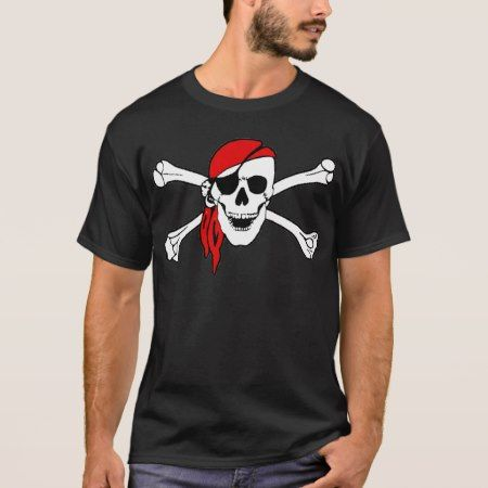 Pirate Skull and Crossbones Tee Shirt - tap to personalize and get yours