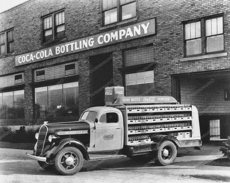 Coca Cola Soda Bottling Company Truck Vintage 8x10 Reprint Of Old Photo