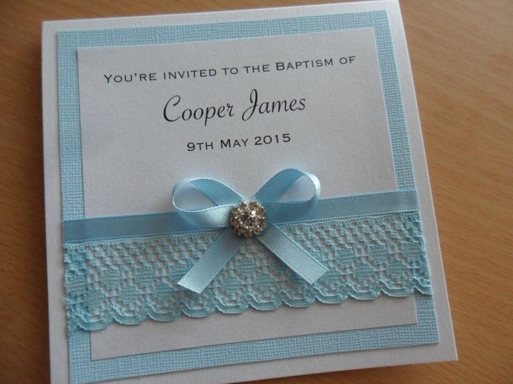 Copper Blue - Baptism Invitation or available as a Christening invitation