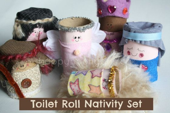 Make an adorable toilet roll nativity set for home or the classroom. A great gift for kids that will provide countless hours of imaginative play.