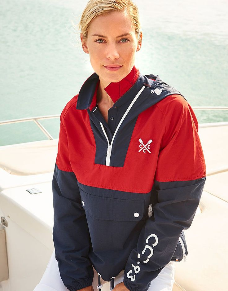 Women's Crew Club Lymington Cagoule in Navy from Crew Clothing