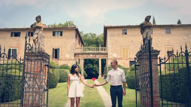 """A lovely couple, sun and rain for an awesome destination wedding in Tuscany. --  14th June 2014 Talar & Armen - wedding highlights  :: location :: Borgo di Stomennano (SI, Italy) :: wedding planner :: Clara / Chic Weddings in Italy :: floral design :: La Rosa Canina :: photographers :: Lelia Scarfiotti & Nataly Montanari :: music :: The Oh-Hellos  """"Trees"""", from bandcamp.com"""