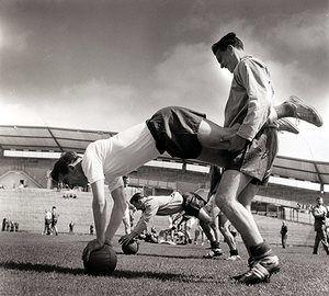 Johnny Haynes and Bobby Robson