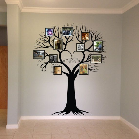 Wall decal Family Tree Wall Decal Photo frame by WilsonGraphics                                                                                                                                                                                 More