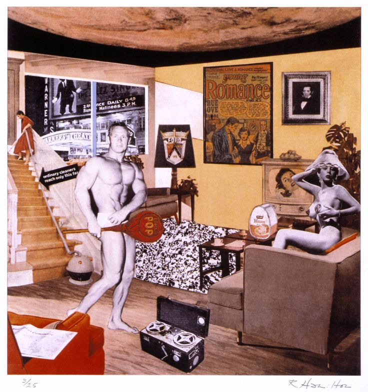 Just what was it that made yesterday's homes so different, so appealing? (Qué es lo que hace que los hogares de hoy sean tan diferentes?) 1992 by Richard Hamilton 1922-2011
