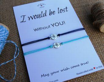 Friendship Bracelets Compass Bracelet BFF Gift Best by MakeaWishXO