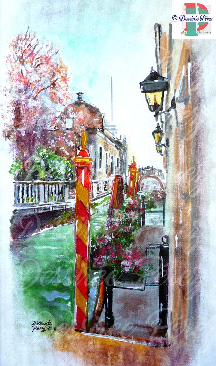 #paesaggioveneziano #venezia #italia #italy #acrylic on canvas #acrilico su cartone telato 20x40 cm Dessirèe Pèrez all rights reserved