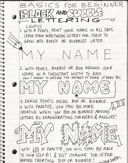The Lost Sock : Art Class Journaling A beginners guide to lettering is a lesson I will teach for journaling.  I will have the students take these notes in their journals in order to get them started on the next entry...