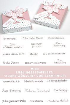Blogparade Mein Lieblingsstempelset Kleine Wünsche Gifts To