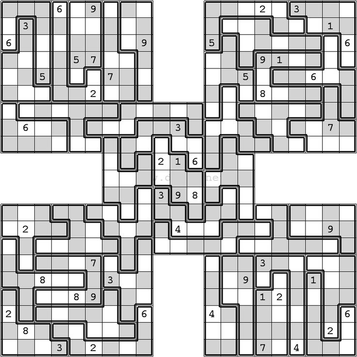 This is a picture of Clean Mega Sudoku Printable