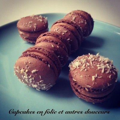 Macarons chocolat au lait/coco