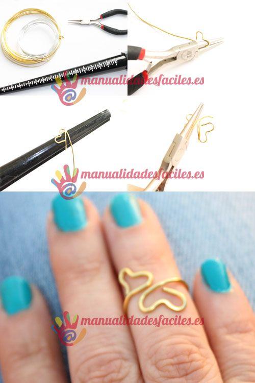 Como hacer mini anillos fáciles