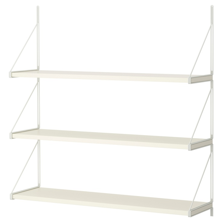 EKBY JÄRPEN/EKBY GÄLLÖ Wall shelf - IKEA ..paint then switch to walnut shelves