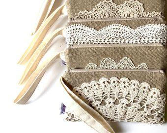 Regalos de Dama de honor Vintage tapete de por JuneberryStitches