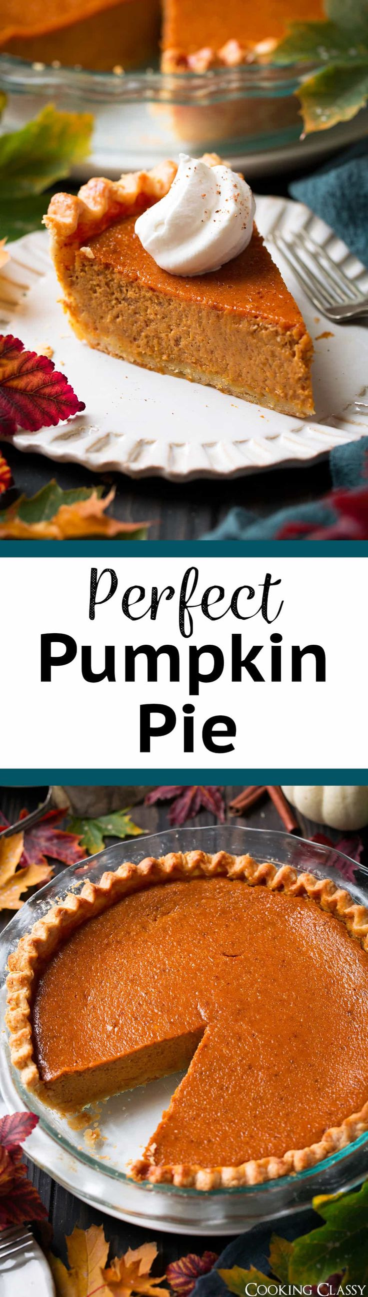 The Perfect Pumpkin Pie - this really is a perfect pumpkin pie! Make this one if you are looking to impress! Love all the little details that really make a difference. #pumpkin #pumpkinpie #pie #thanksgiving #recipe  via @cookingclassy