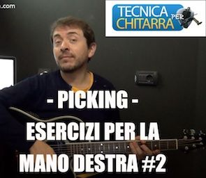 Lezioni di chitarra: picking-esercizi per la mano destra #2   Tecnicaperchitarra.com