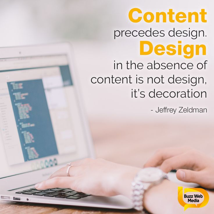 Quality #content is more important than pretty #design - it needs to add value for your audience.  #marketing