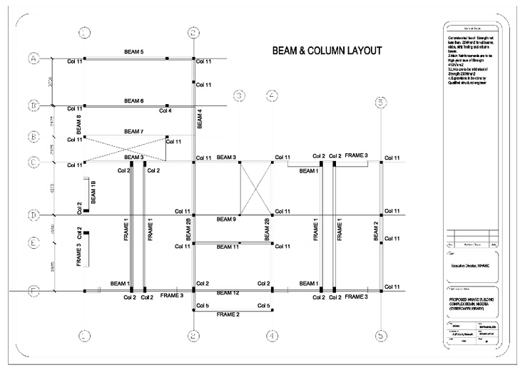 Beam And Column Layout Plan In 2019