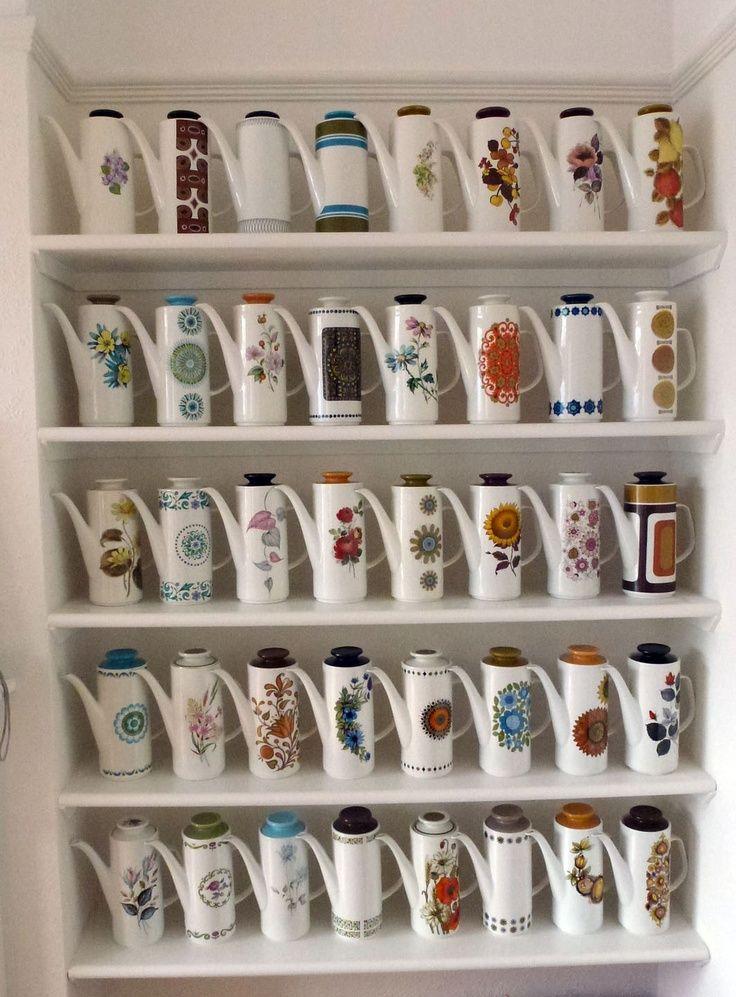 "branda: ""my meakin coffee pot collection | house | Pinterest """