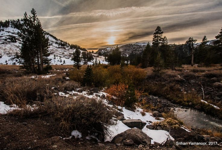 A Late Fall Afternoon - As I traveled into the Eastern Sierras, I was encountered by this scene.