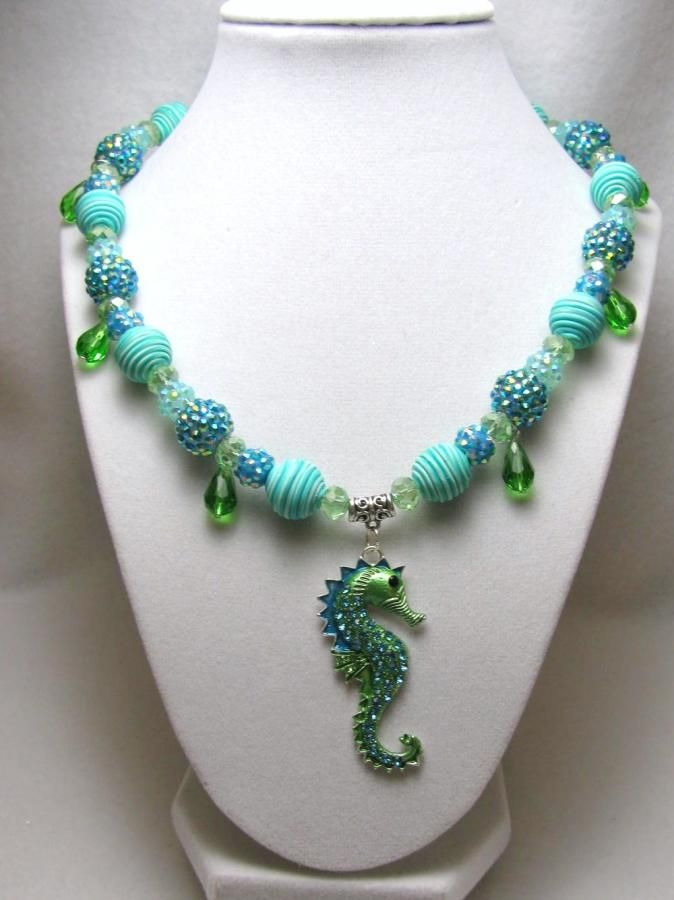 Come Swim With Me - Jewelry creation by Linda Foust