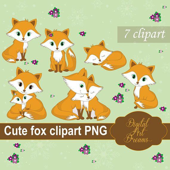 Fox Clipart Cute Foxes PNG Fox Couple Graphics Sleeping Fox