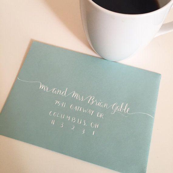 Wedding Envelope Calligraphy Powell Style By ColumbusCalligrapher