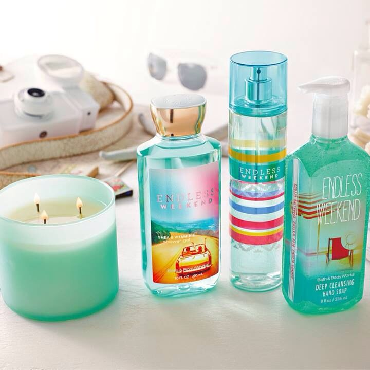 Endless Weekend from Bath and Bodyworks! Smells *exactly* like Amor Amor from Cacharel, an expensive French perfume :) Delish!
