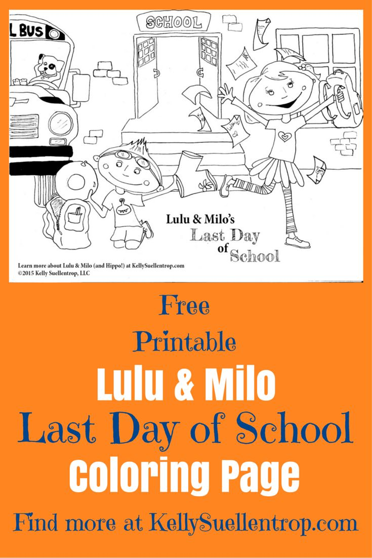 free printable last day of school coloring page featuring lulu milo characters in the