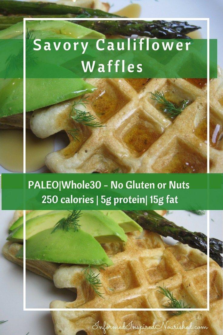 Savory Cauliflower Waffles with Cassava Flour – InformedInspiredNourished