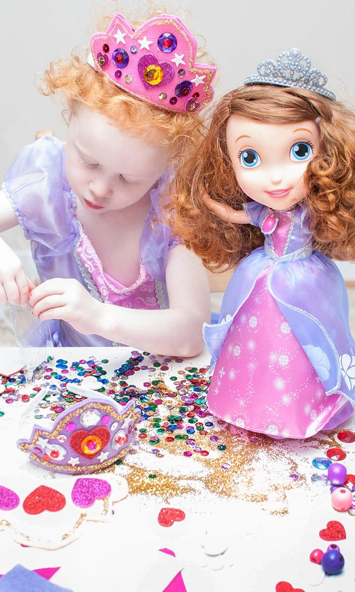 A princess never leaves home without her tiara! Add some sparkle, glitter and sh...