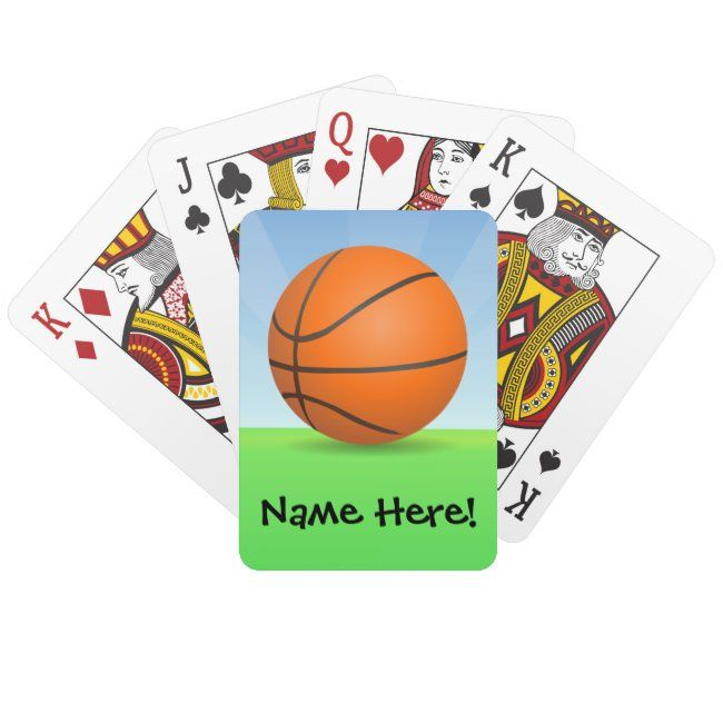 Personalized Kid S Sports Basketball Sunny Day Playing Cards Zazzle Com Sports Basketball Kids Sports Playing Cards