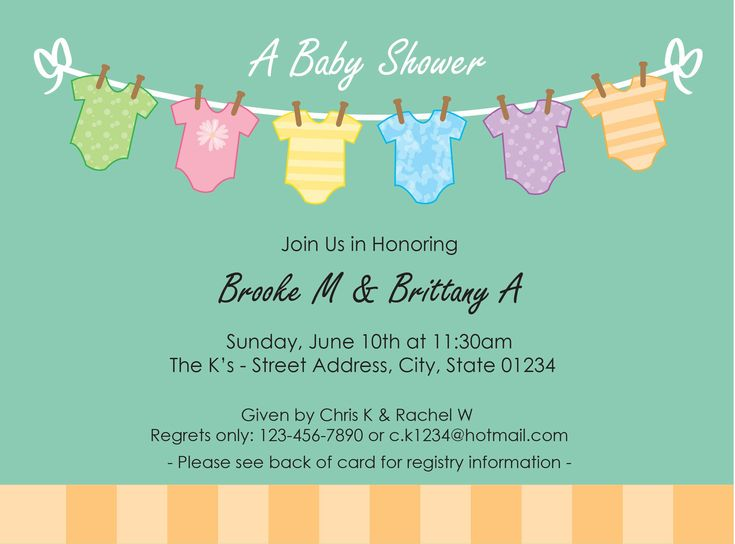 Doc400288 Baby Shower Invitations Templates Free Free – Baby Shower Invite Template