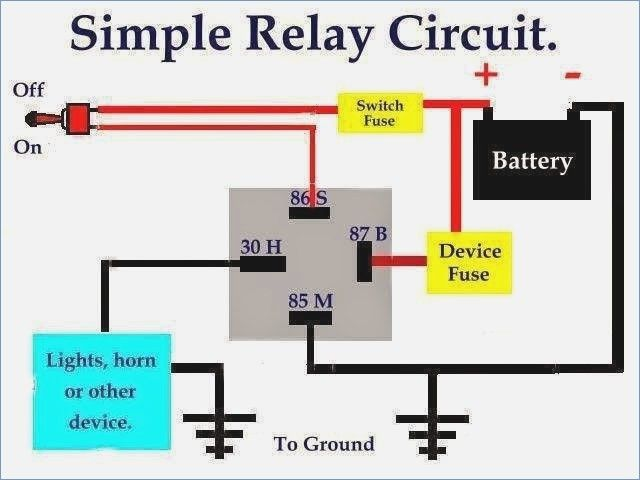 Simple Car Wiring Diagrams With Relays - basic electrical ... on