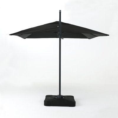 red barrel studio 10u0027 square cantilever umbrella color black