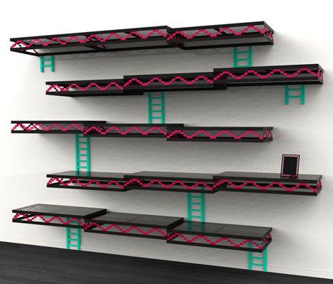 Geek-Furniture-Donkey-Kong-Shelves-2.jpg (468×399) I'm actually doing this.