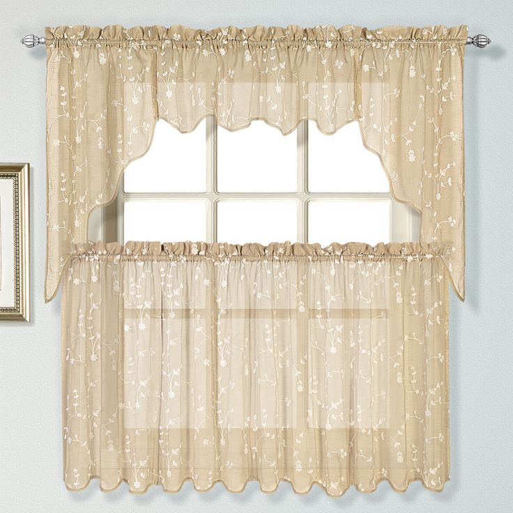 Rosemary Linen Kitchen Curtain Swag: 16 Best Sheer Kitchen Curtains Images On Pinterest