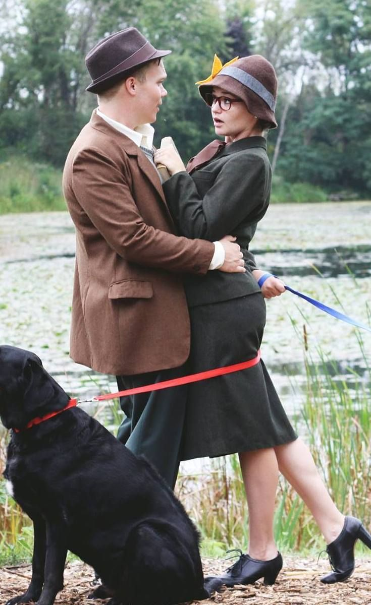 Dogs are an engagement photo's best friend.