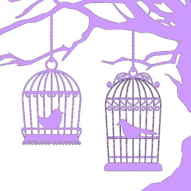 fichier sst ** cage oiseau arbre   ** pour silhouette studio cameo
