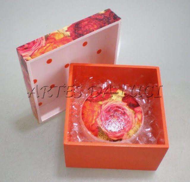 Artes da Luci: caixa com sabonete