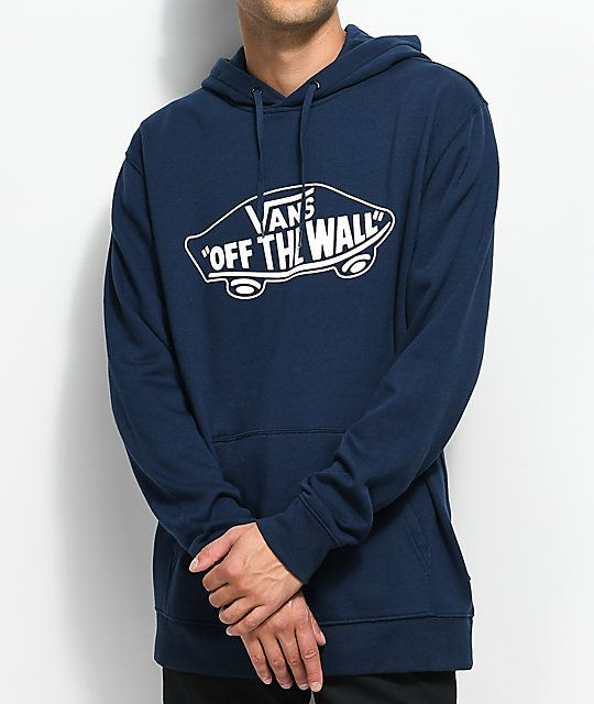 6a65477300 Vans MN Off The Wall Navy Hoodie in 2019