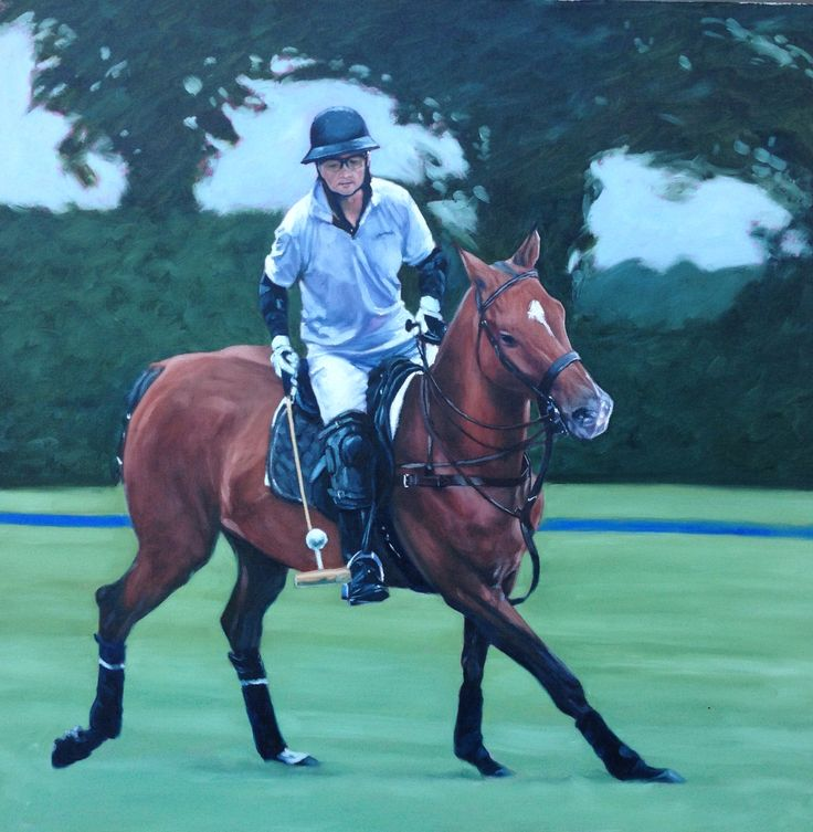 """Chinese polo player Lawrence Geung from Hong Kong playing his favourite horse """"Palermo"""" at the Royal a County of Berkshire Polo Club."""